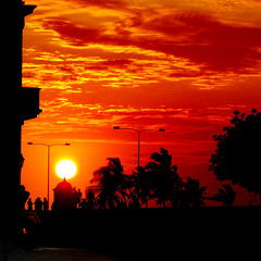 Just a Caribbean Sunset (Luz Adriana Villa A.) Tags: sunset red sky canon atardecer fire is rojo colombia powershot cielo fuego cartagena a650 luza 25faves abigfave a650is luzavilla thegoldproject