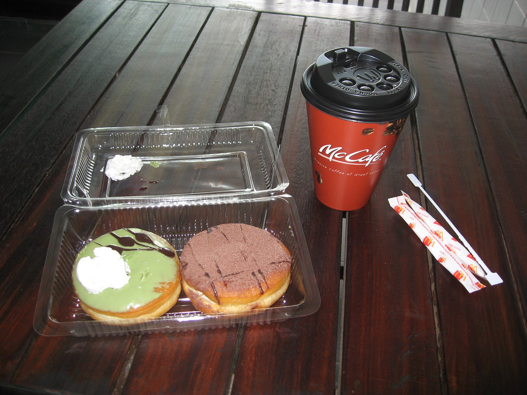 Gourmet donuts and a McCafe - Singapore