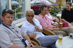"2005 July: Holland, set off for the Europa tour ""Rural europe in 90 days"" @ Wijk aan Zee (saithen) Tags: holland wijkaanzee"