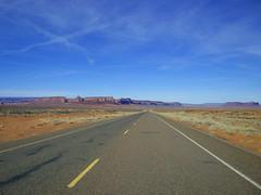Road Back Home -- Leaving Monument Valley (UT), February 12, 2008 (Ron Cogswell) Tags: monumentvalley monumentvalleyut roncogswell leavingmonumentvalleyut