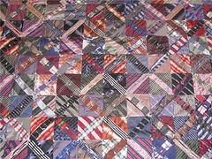 detail of necktie quilt