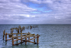 England: Dorsetshire - Swanage, Old Pier (Tim Blessed) Tags: uk sea sky nature clouds landscapes pier seaside scenery waves dorset swanage anawesomeshot singlerawtonemapped