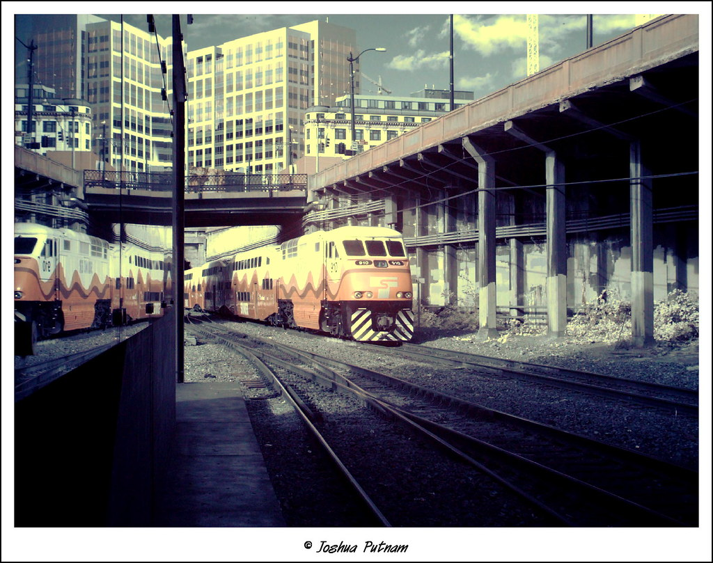 Sounder under Seattle