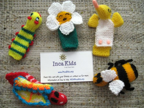 Inca Kids Garden Animal Puppet set