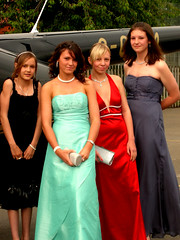 Jordan, Me, Jodie, Helen (Sarah-Jane Doherty) Tags: school friends castle transport graduation highschool helicopter prom classof2007 donington promdress year9 cdcc promtransport