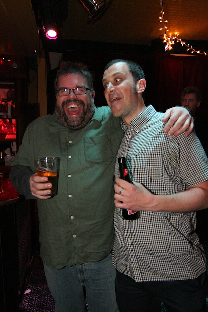 Flickr photo of Karaoke King Steve Reynolds and Magnetic Fields Lee Greenfield by Jay Lajoie