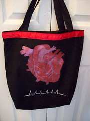 heart support tote (misc5anddime) Tags: bag heart painted tote