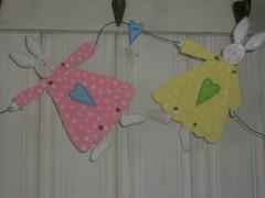 Pink & Yellow Tilda Bunnies