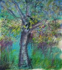 Felt, applique and embroidery (kayla coo) Tags: tree art wool felted landscape artwork stitch handmade embroidery decorative felt textile stitches handsewn fiberart stitched threads textileart feltart kaylacoo
