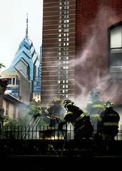 Fire in Philadelphia (moocatmoocat) Tags: philadelphia mi liberty fire place smoke cc cs firemen aplusphoto peircecollege