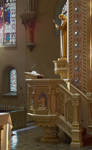 Saint Anthony of Padua Roman Catholic Church, in Saint Louis, Missouri, USA - pulpit