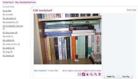 Uploaded bookshelf