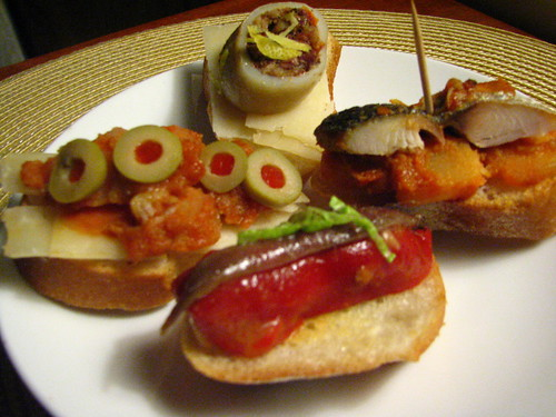 Variety of Spanish Pintxos Made @ Home