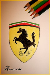F~E~R~R~A~R~I (AS  ) Tags: yellow by logo drawing ferrari amoroso