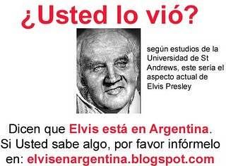Elvis Presley Esta Vivo Y Vive En Argentina