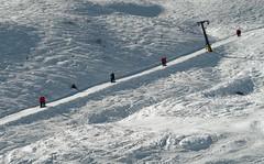 Crisscrossed (No_Mosquito) Tags: ski trip tow lift slope snow mountains gastein schlossalm austria salzburg europe canon powershot g7x mark ii alps tauern winter hofgastein diagonal towlift outdoor schlosshochalmlift