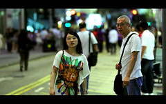 Angels and Demons (James Yeung) Tags: street cute girl angel hongkong pretty bokeh candid demon streetphoto cinematic angelsanddemons ef135mmf2l canon5dmarkii