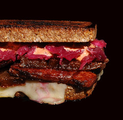 Pork Belly Reuben (Catastrophysicist) Tags: oregon portland pig bacon or sauerkraut sandwich rye german charcuterie itsalive picklopolis pearlbakery thousandislanddressing baconfat vollkornbrot forkrestaurant ruhlman polcyn coronaryheartdisease bunksandwiches porkbellyconfit