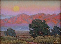 "Mesa Moonrise - 9 x 12"""