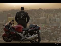 """ finding a way to ride"" (Moda Azrae) Tags: nikon bikes saudi arabia motor sa suzuki makkah ksa d300 saudia"