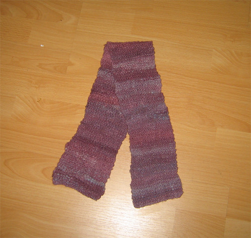 Hannah's scarf - my first ever knitting project