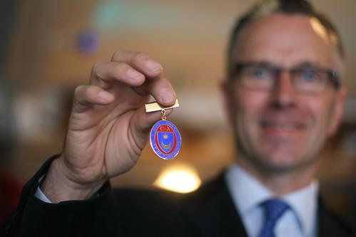 Ian Parmiter with his award