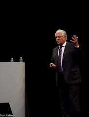Hasso Plattner keynoting the Sapphire Now conference