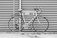 700_8706-border (Luc de Schepper) Tags: bw bike bicycle blackwhite fiets nikkor180mm28