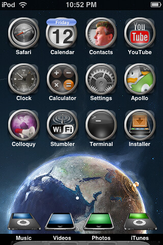 iPod Touch with Summerboard Theme - Time Machine 2