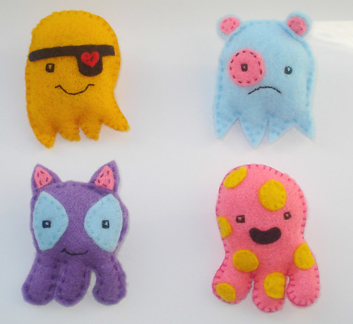 New monster brooches