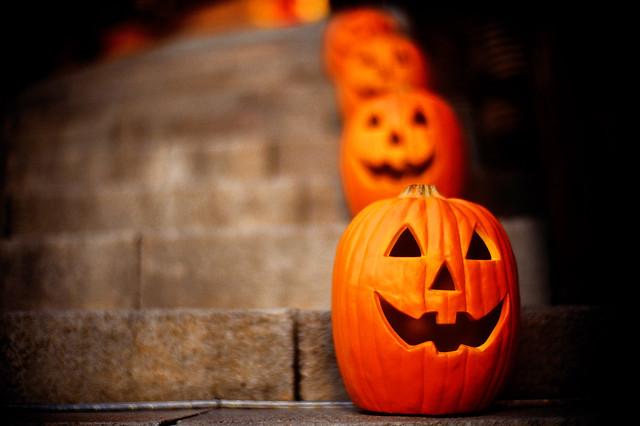 bokeh pumpkins