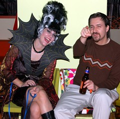 Pam and Ryan at the Eleven80 Halloween Party
