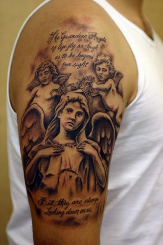 Angel and Cherubs Tattoo by The Tattoo Studio