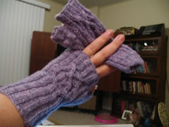 finished Serpentine Mitts