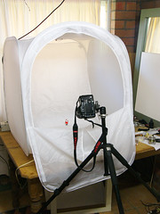 My Makeshift Home Studio for Product/Object photography (Craig Jewell Photography) Tags: lighting light home studio iso100 diy office tent product f28 makeshift dmcfz10 120sec cpjsm craigjewellphotography