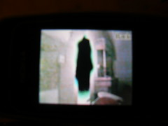 Ghost? (Annie in Beziers) Tags: strange weird scary ghost monk freaky haunted creepy molly monastery iseedeadpeople haunting portal unusual phantom paranormal ghostbusters spectre shivers whatthe sixthsense cathar glowinggreen blackfigure spinechilling dontlooknow whoyougonnacall annieinbziers iseeeeeyouuuuuuu aintnobodyherebutusghosts photoofmymobilephonescreen
