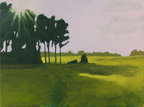 through the trees, oil on canvas, 2007