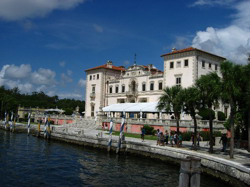 Vizcaya Museum and Gardens on Biscayne Bay in the present day Coconut Grove district of Miami