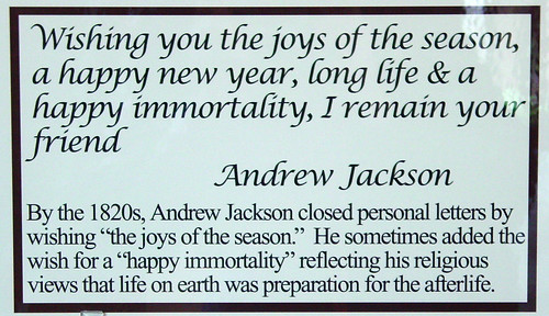 Andrew Jackson's Christmas Wishes