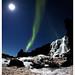 Öxarárfoss in Iceland - Aurora Borealis