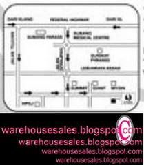 1101 unza warehouse sale malaysia map