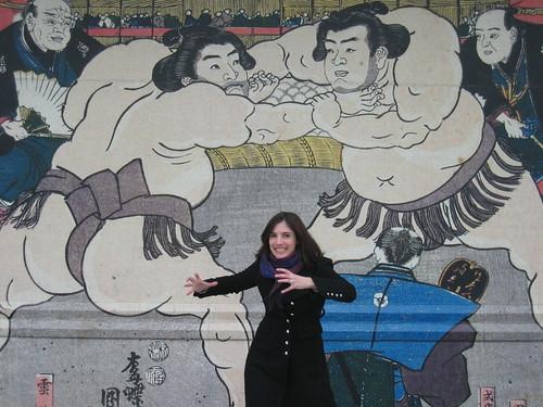 TOKYO - Pre-sumo - L'attaque du sumo francais!