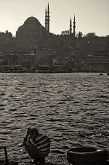 The Hunchback of Istanbul (sbrrmk) Tags: life street blackandwhite bw silhouette turkey fisherman solitude alone seagull traditional turkiye istanbul bosphorus hunchback dram siyahvebeyaz kambur fotografca mnzevi