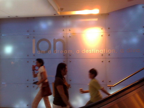 ION Orchard glimpse in Orchard MRT Station