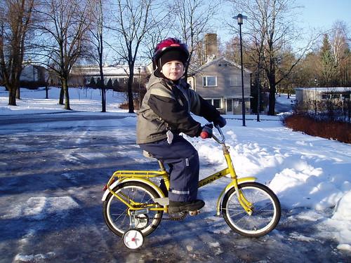 Pyöräilyä tammikuussa