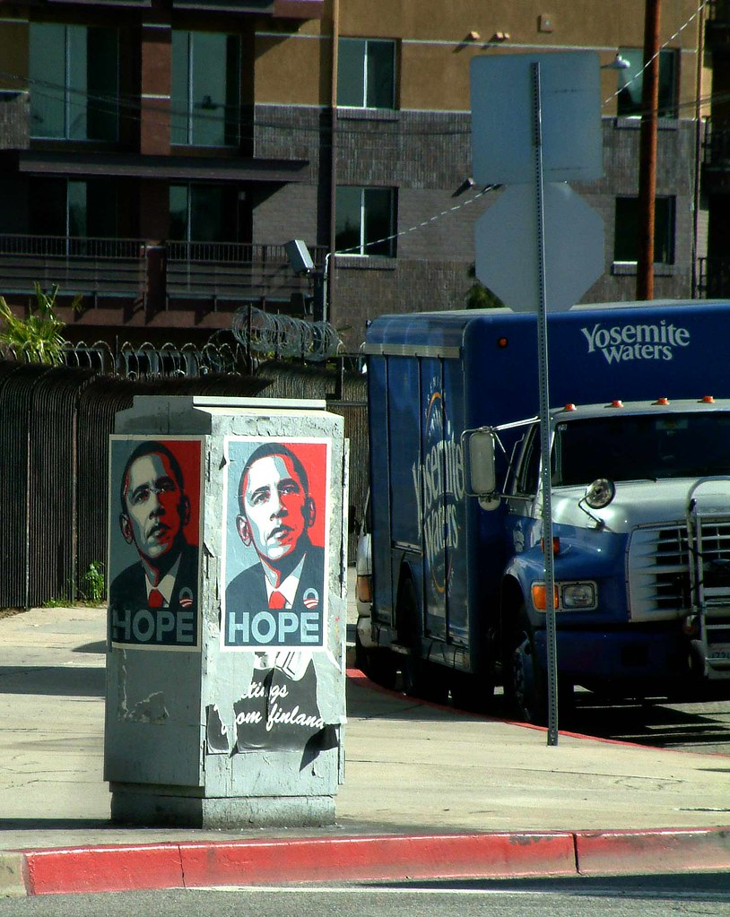 obama in downtown LA