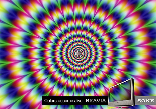 Sony Bravia Color 01 Optical Illusion