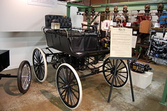 1897 Olds Gas high wheel carriage 008 N (Corvair Owner) Tags: classic cars museum truck antique michigan 1987 lansing historic vehicles r transportation oldsmobile reo reolds