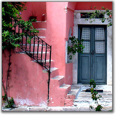 Rosa-coloured house