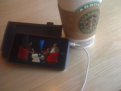 """""""The Hour"""" in iPod touch, at Starbucks"""